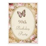 90.o Rosas mariposa, notas del vintage del Anuncio