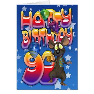 90.o Tarjeta de cumpleaños linda con el pequeño ra