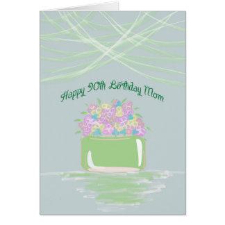 90.o Tarjeta de cumpleaños para la mamá en flores