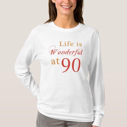 90.os regalos de cumpleaños maravillosos camiseta