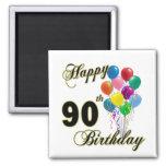 90.os regalos de cumpleaños y ropa felices del cum imán de nevera