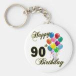 90.os regalos de cumpleaños y ropa felices del cum llaveros