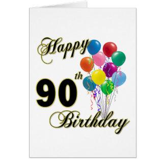 90 os regalos de cumpleaños y ropa felices del cum tarjeton