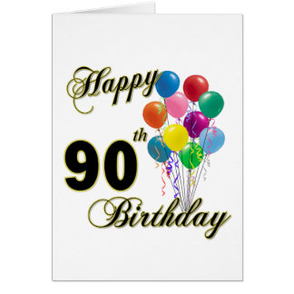 90.os regalos de cumpleaños y ropa felices del cum tarjeta de felicitación
