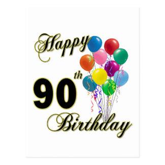 90.os regalos de cumpleaños y ropa felices del cum postal