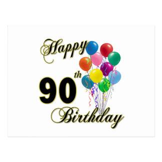 90.os regalos de cumpleaños y ropa felices del postal
