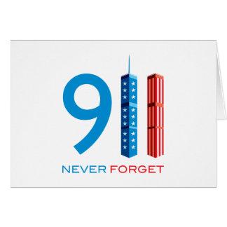 911 nunca olvide tarjetón