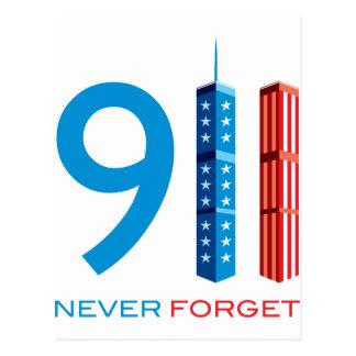 911 nunca olvide postal
