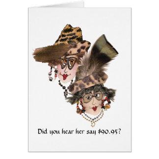 91.o cumpleaños chistoso para las mujeres tarjeta pequeña