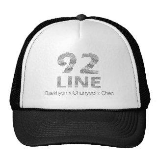 92 línea - Baekhyun Chanyeol Chen Gorro De Camionero