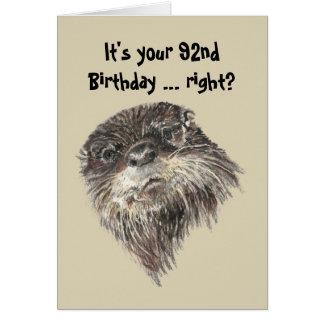 92 o humor del cumpleaños de la edad avanzada y tarjetón