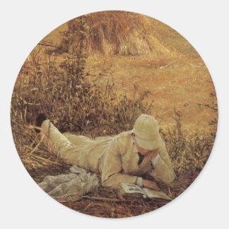 94 grados en la sombra, sir Lorenzo Alma Tadema Pegatina Redonda