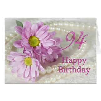 94.o Tarjeta de cumpleaños con las margaritas