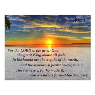 95:3 del salmo - tarjeta de memoria de la