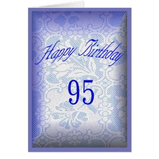 95 años del feliz cumpleaños tarjeta de felicitación
