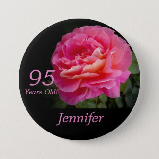 95 años, Pin color de rosa rosado del botón