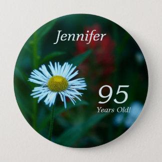 95 años, Pin del botón del WildFlower de la