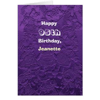 95.as muñecas felices de la púrpura de la tarjeta