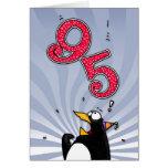95.o cumpleaños - tarjeta de la sorpresa del pingü