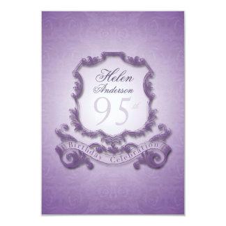 95.o Invitación del marco del vintage de la