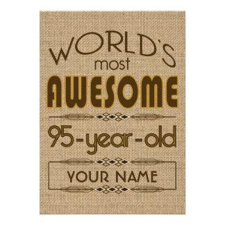 95 o Mundo de la celebración del cumpleaños mejor Anuncio Personalizado