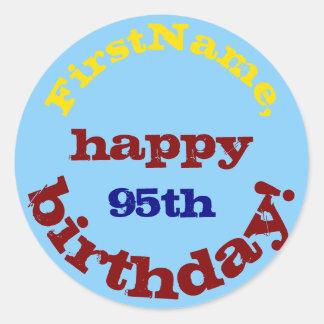 95.o pegatina básico, colorido del cumpleaños