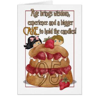 95.o Tarjeta de cumpleaños - humor - torta