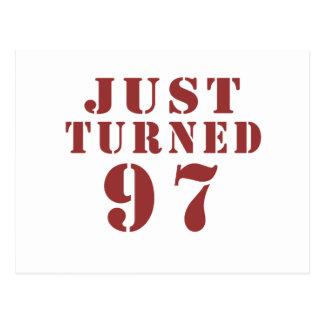 97 apenas dado vuelta cumpleaños postal