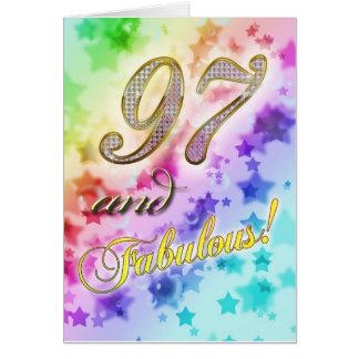 97.o cumpleaños para alguien fabuloso tarjeta de felicitación