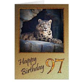 97.o Tarjeta de cumpleaños con una onza
