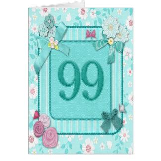 99.a tarjeta de cumpleaños con las flores