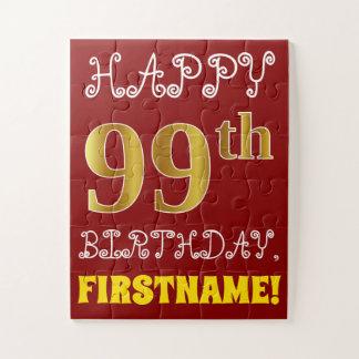 99.o cumpleaños del oro rojo, falso + Rompecabezas