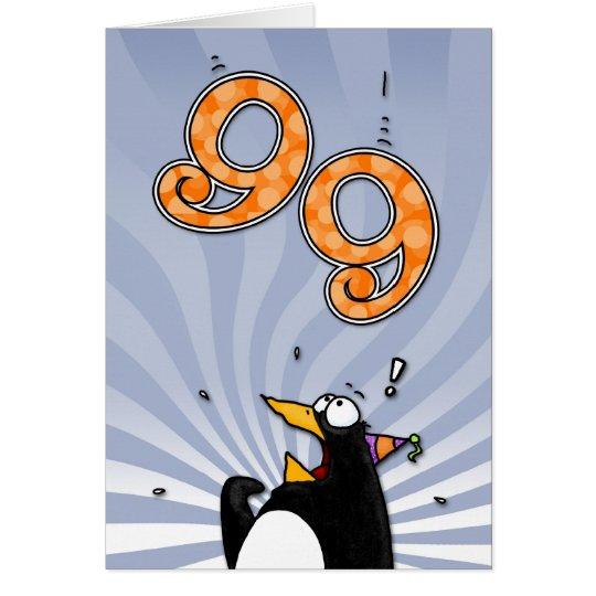 99.o cumpleaños - tarjeta de la sorpresa del