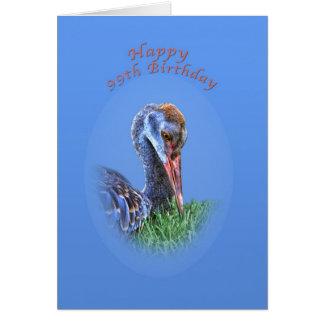 99.o Tarjeta de cumpleaños con el pájaro de la