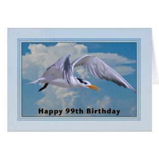 99.o Tarjeta de cumpleaños con el pájaro real de