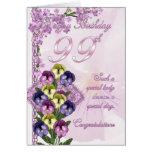 99.o Tarjeta de cumpleaños para una señora especia