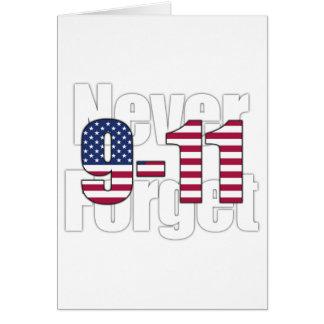 9-11 nunca olvide tarjetas