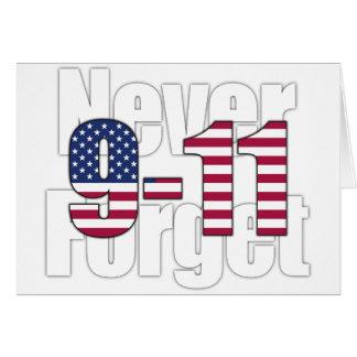 9-11 nunca olvide felicitaciones