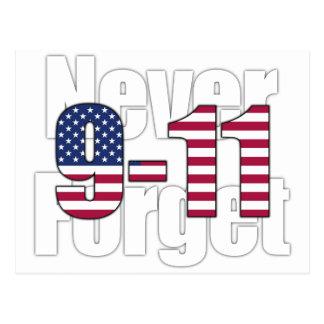 9-11 nunca olvide postales