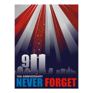 9-11 poster enorme del 11mo 10mo aniversario de Se Póster