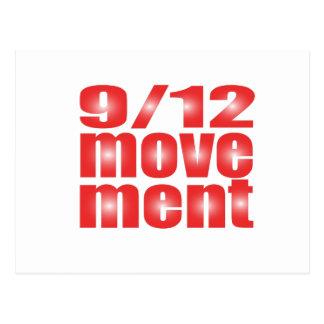 9 12 movimiento tarjeta postal