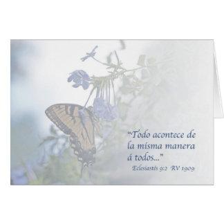 9:2 Carta de Eclesiastés Tarjeta De Felicitación