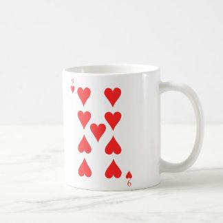 9 de corazones taza de café