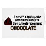 9 fuera del dentista 10 recomiende el chocolate tarjeta