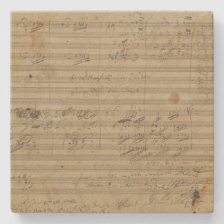 9na sinfonía de Beethoven, manuscrito de la música Posavasos De Piedra