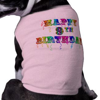 9no camisetas del cumpleaños, tazas del cumpleaños