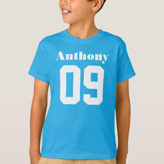 Camiseta 9no Nombre de encargo de la camisa el | del
