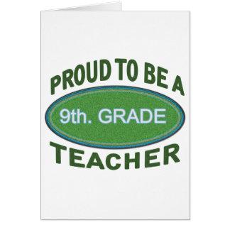 9no orgulloso. Profesor del grado Felicitaciones