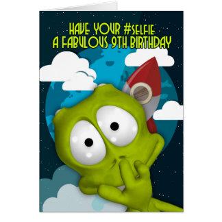 9no Tarjeta de cumpleaños del #Selfie del