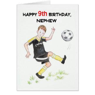 9no Tarjeta de cumpleaños para un sobrino -
